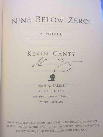 NINE BELOW ZERO. by Canty, Kevin.