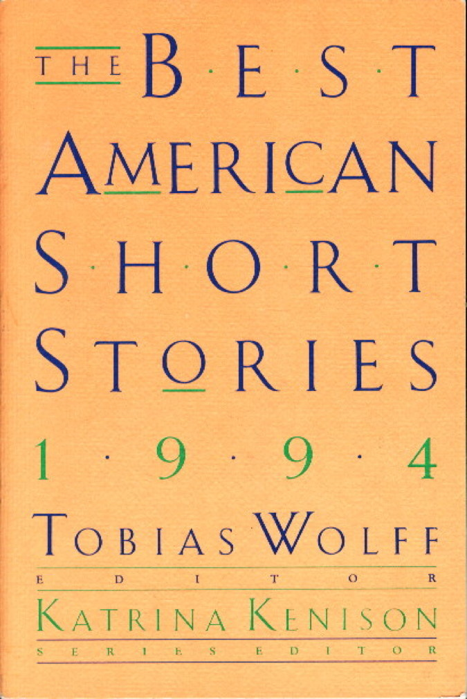 Book cover picture of [anthology] [Alexie, Sherman, signed] Wolff, Tobias, editor. THE BEST AMERICAN SHORT STORIES, 1994. Boston: Houghton Mifflin. 1994.