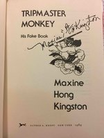TRIPMASTER MONKEY: His Fake Book. by Kingston, Maxine Hong.