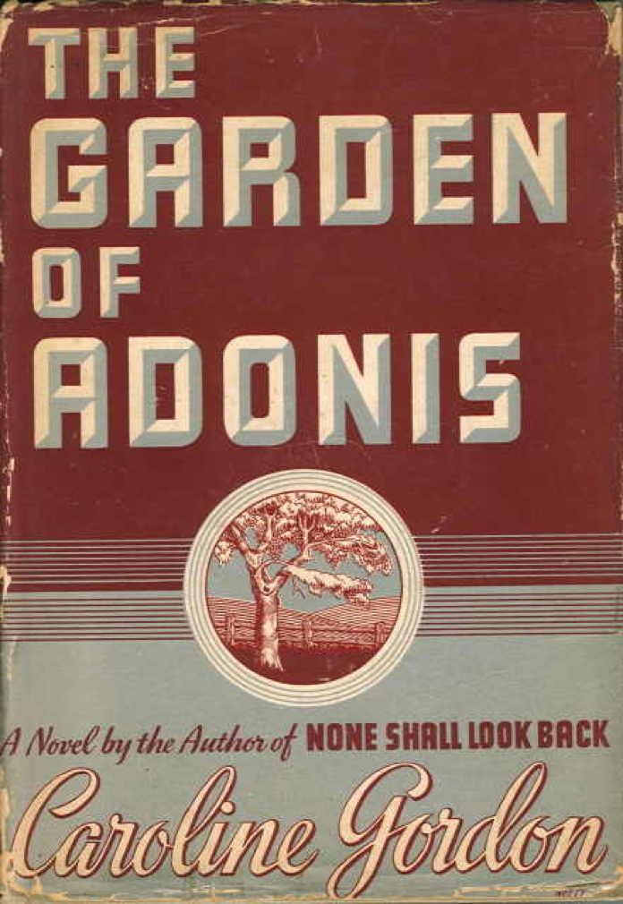 Book cover picture of Gordon, Caroline THE GARDEN OF ADONIS. New York: Scribner's, 1937.