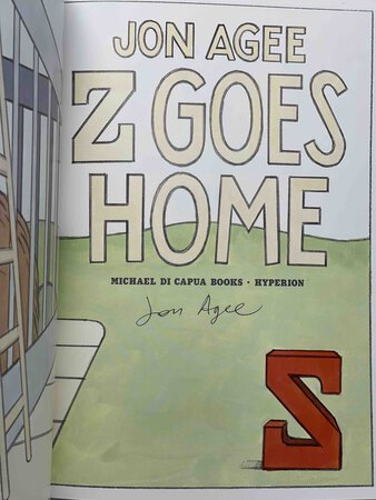 Z GOES HOME. by Agee, Jon.