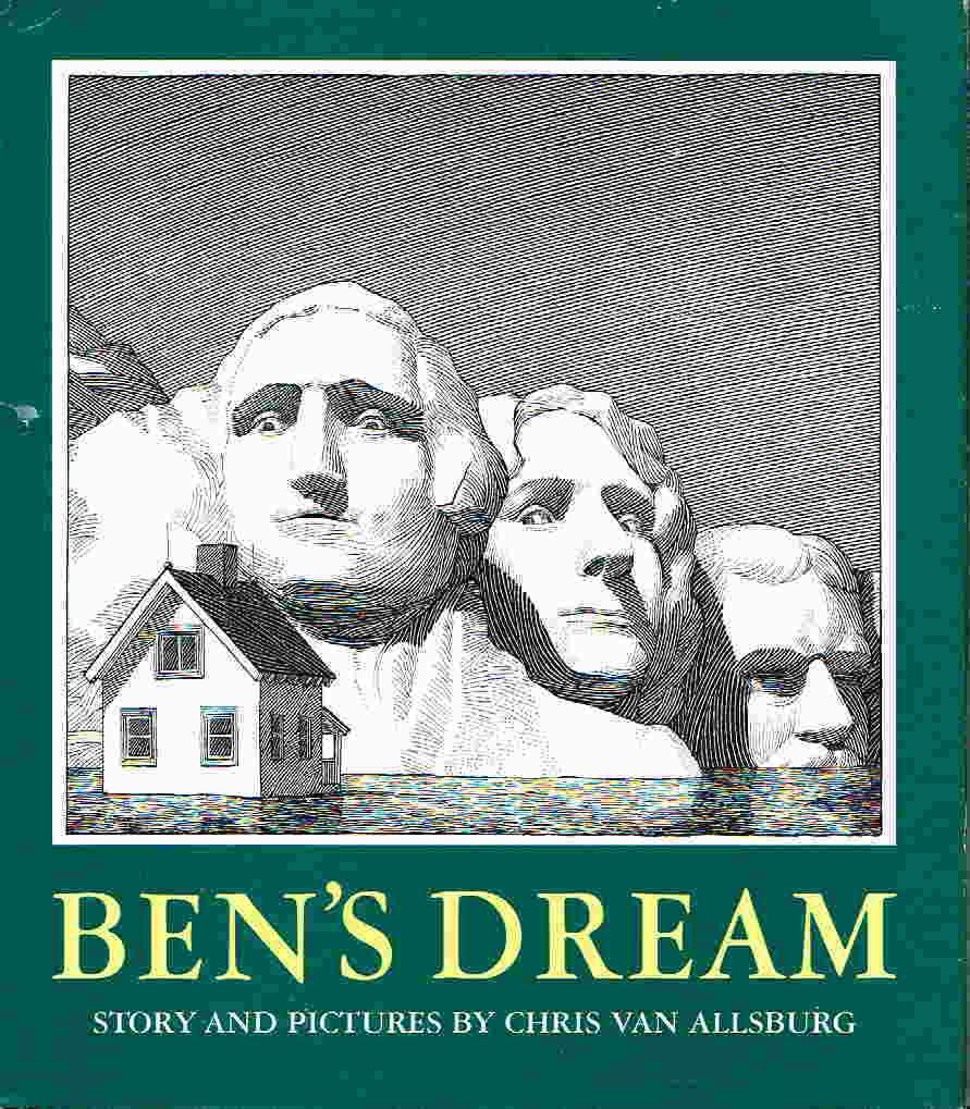 Book cover picture of Van Allsburg, Chris. BEN'S DREAM. Boston: Houghton Mifflin, 1982.