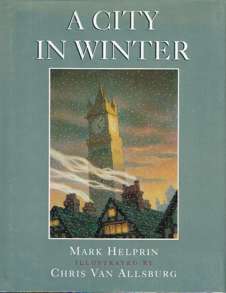 Book cover picture of Van Allsburg, Chris and Helprin, Mark. A CITY IN WINTER. New York: Viking, 1996.