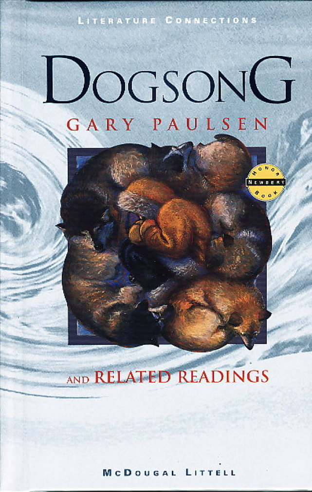 Book cover picture of Paulsen, Gary.  DOGSONG and Related Readings.  Boston: McDougal Littell. (1997.)