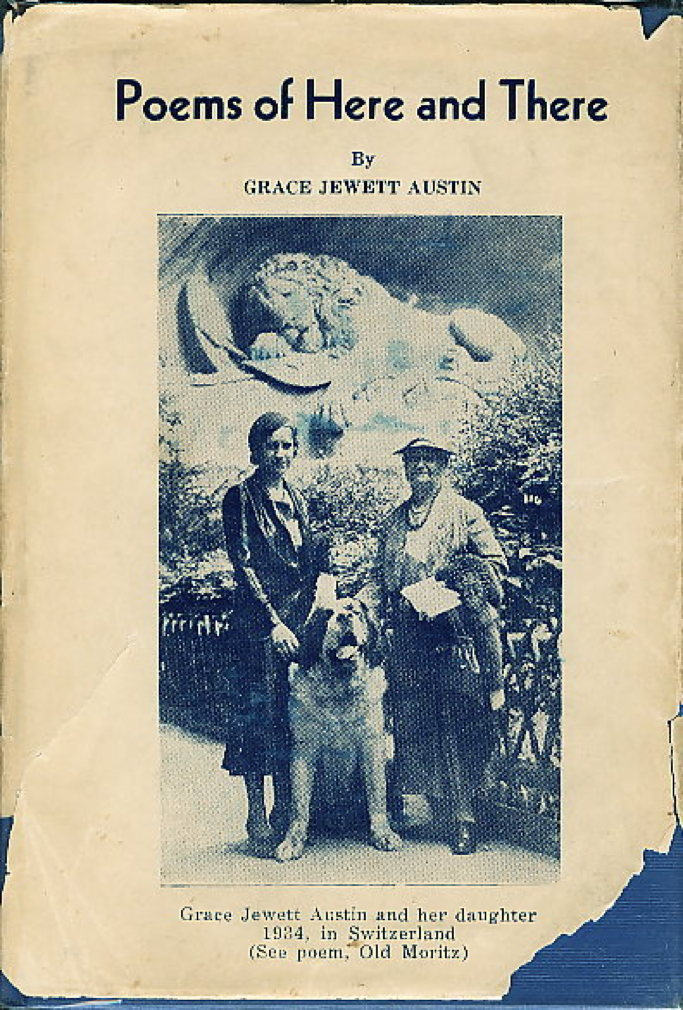 Book cover picture of Austin, Grace Jewett. POEMS OF HERE AND THERE.  Dallas, TX: Story Book Press, (1948.)