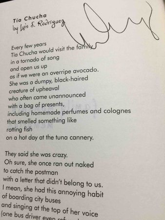 RED HOT SALSA: Bilingual Poems on Being Young and Latino in the United States. by [] Carlson, Lori M. Introduction by Oscar Hijuelos. Luis J Rodriguez , signed