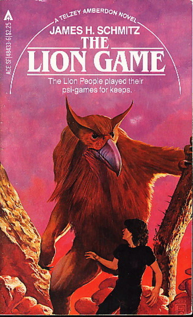Book cover picture of Schmitz, James H. THE LION GAME. New York: Ace Books, (1982.)