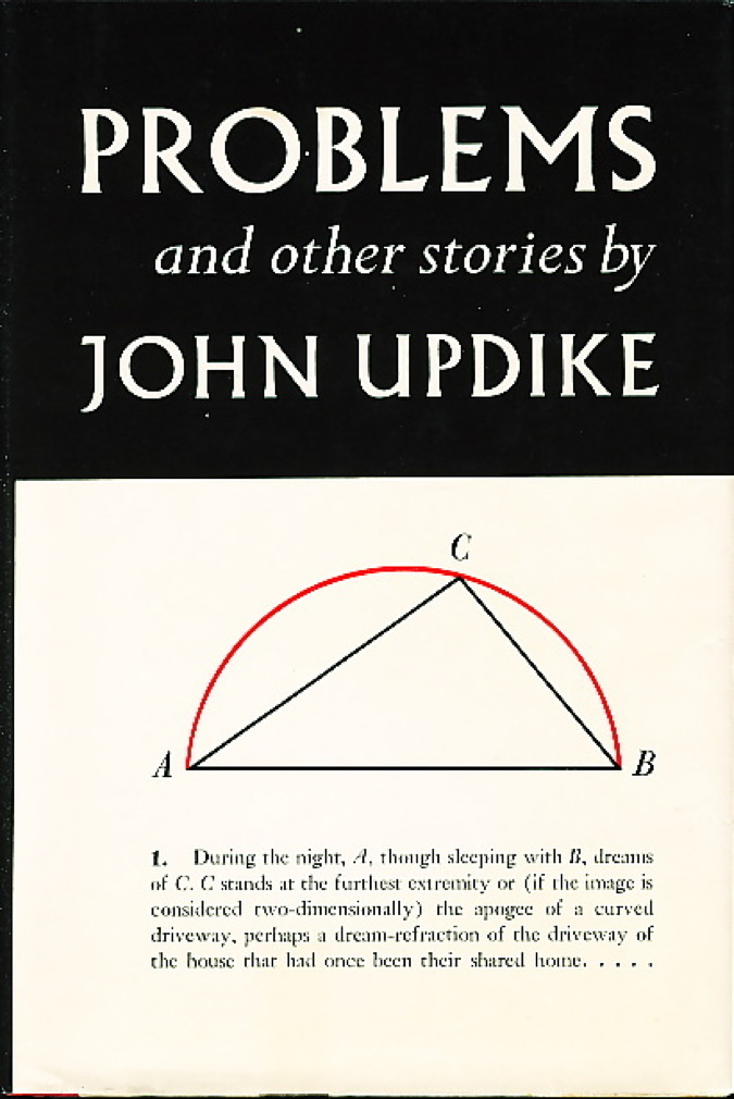 Book cover picture of Updike, John. PROBLEMS and Other Stories. New York: Alfred A. Knopf, 1979.