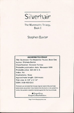 SILVERHAIR: The Mammoths Trilogy, Book One. by Baxter, Stephen.