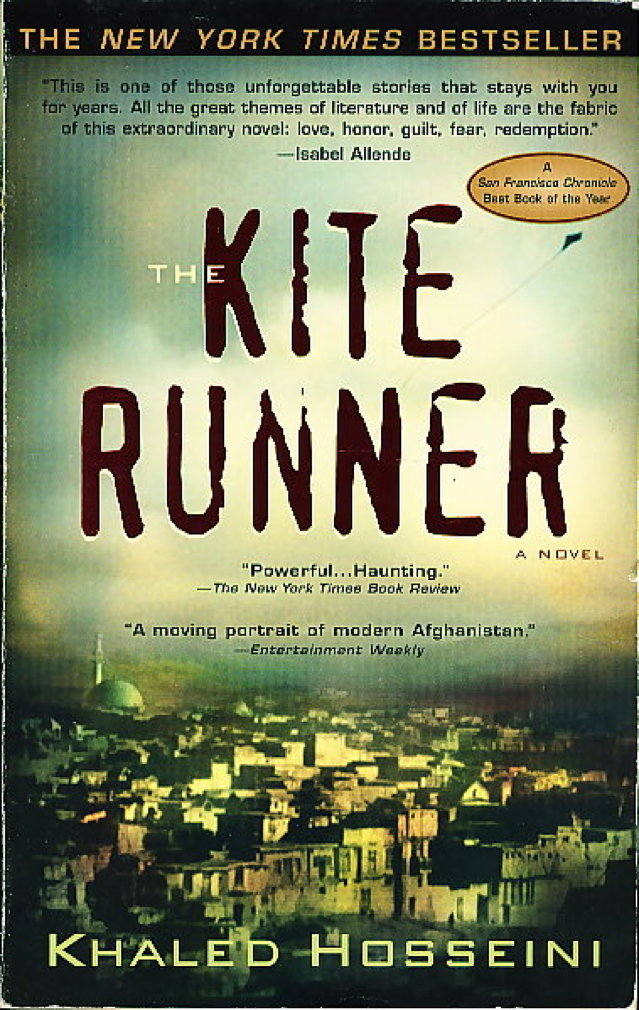 Book cover picture of Hosseini, Khaled. THE KITE RUNNER.  New York: Riverhead Books, (2004.)