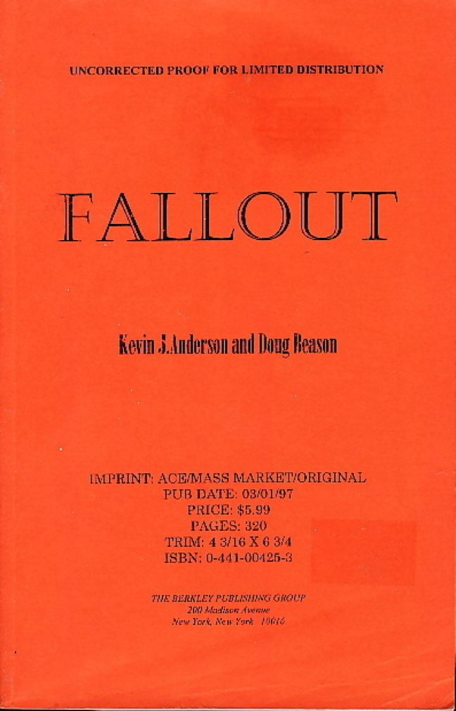 Book cover picture of Anderson, Kevin J, and Doug Beason. FALLOUT. New York: Ace Books, (1997.)
