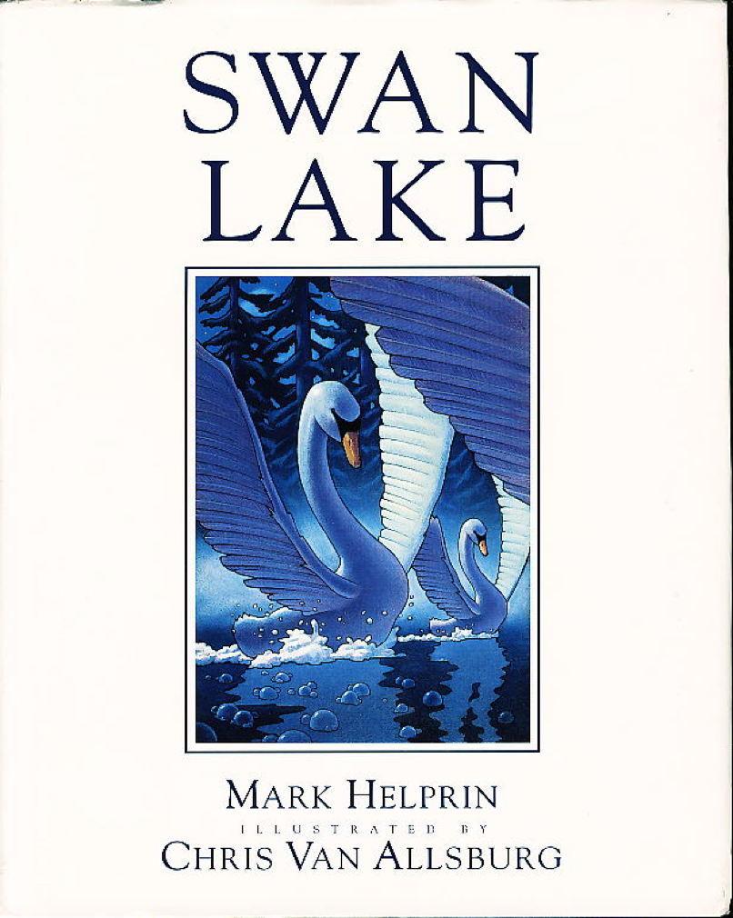 Book cover picture of Van Allsburg, Chris & Helprin, Mark SWAN LAKE. Boston: Houghton Mifflin, 1989.