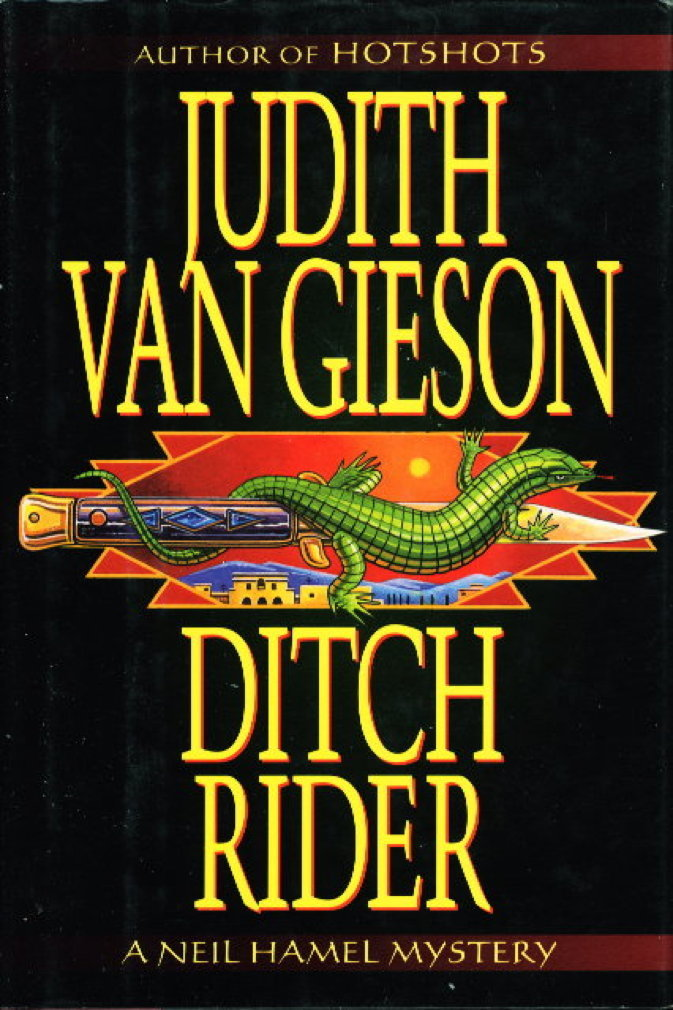 Book cover picture of Van Gieson, Judith. DITCH RIDER. New York: HarperCollins, 1998.