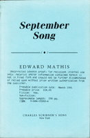 SEPTEMBER SONG. by Mathis, Edward.