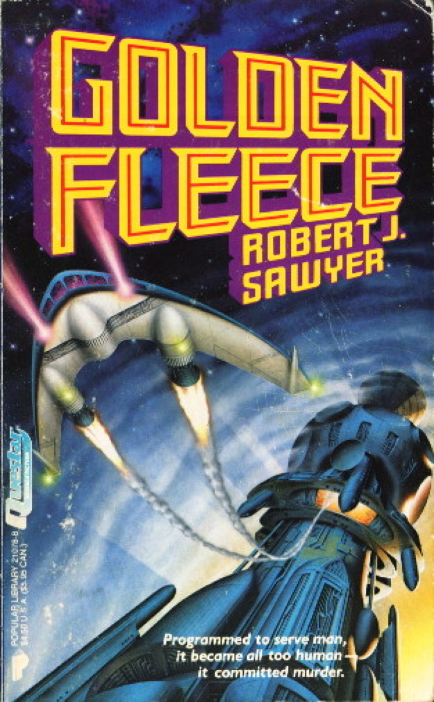 Book cover picture of Sawyer, Robert  J. GOLDEN FLEECE. New York: Questar Warner, (1990.)