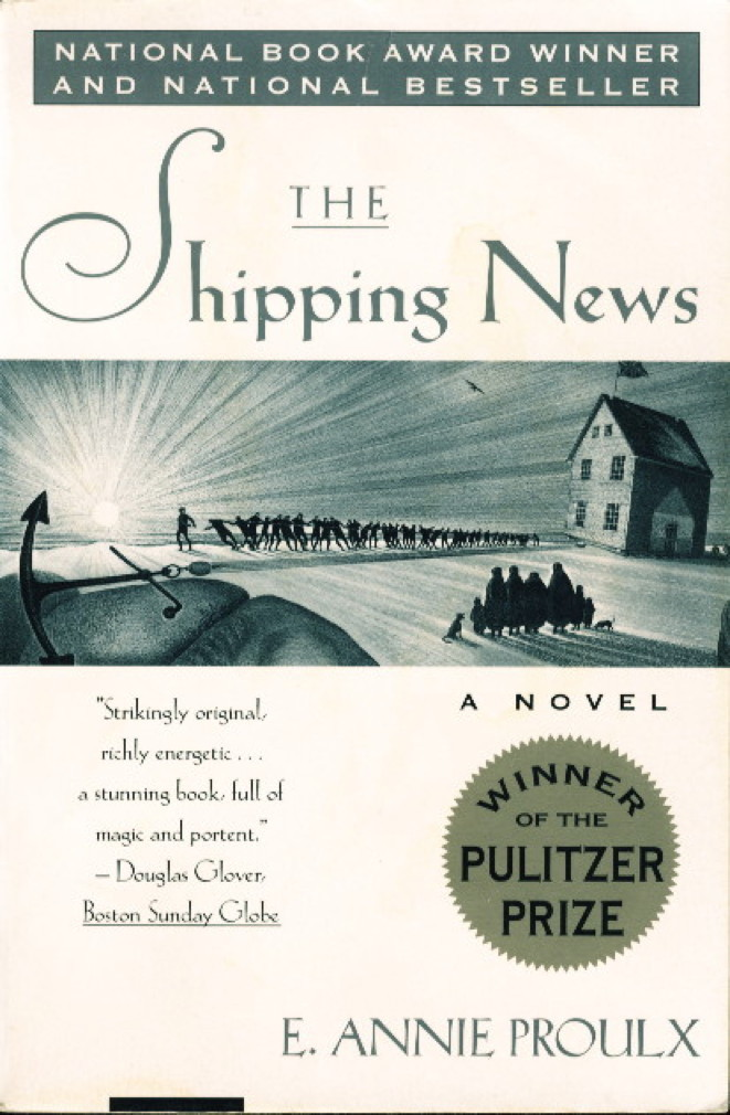 Book cover picture of Proulx, E. Annie. THE SHIPPING NEWS. New York: Simon & Schuster, (1994.)