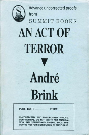 AN ACT OF TERROR. by Brink, Andre.