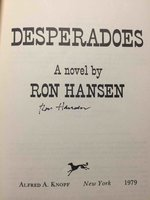 DESPERADOES. by Hansen, Ron.