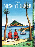 THE NEW YORKER: April 21, 2008. by Franzen, Jonathan; Derek Walcott, Caroline Alexander, Jared Diamond and others, contributors.
