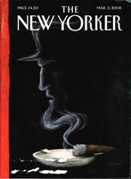 THE NEW YORKER: March 3, 2008. by Calvin Trillin, Richard Ford, W.S. Merwin, Alma Guillermoprieto and others, contributors.