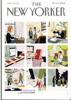 THE NEW YORKER: February 25, 2008. by Rushdie, Salman, Paul Kramer, J. D. McClatchy and others, contributors.