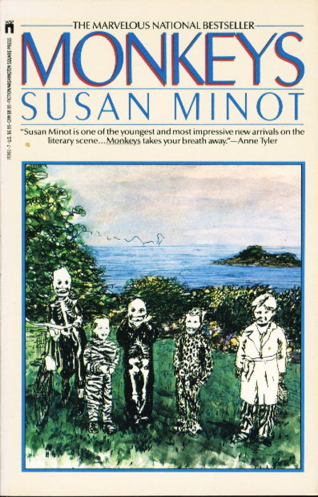 Book cover picture of Minot, Susan. MONKEYS. New York: Washington Square Press Books, (1987.)