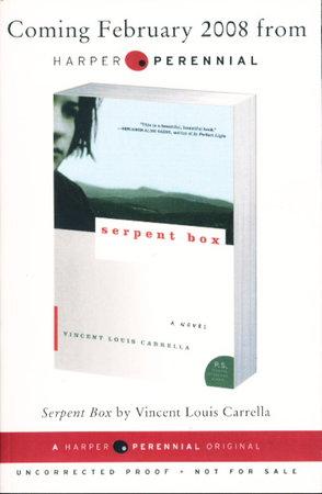 SERPENT BOX. by Carrella, Vincent Louis.