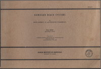 HAWAIIAN BEACH SYSTEMS: Final Report Appendices A and B. by Moberly, Ralph Jr. and Theodore Chamberlain.
