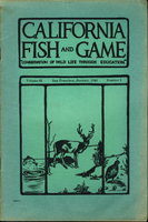 "CALIFORNIA FISH AND GAME:""Conservation of Wild Life Through Education"" Volume 31, Number 1, January 1945. by Dixon, Joseph S. and others."