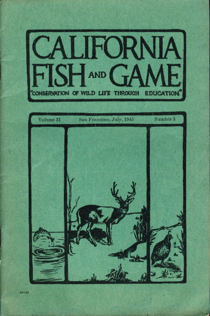 Book cover picture of Van Cleve, Richard. and others. CALIFORNIA FISH AND GAME: