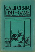 "CALIFORNIA FISH AND GAME: ""Conservation of Wild Life Through Education"" Volume 32, Number 4, October 1946. by Hensley, Arthur L. and others."