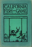 "CALIFORNIA FISH AND GAME: ""Conservation of Wild Life Through Education"" Volume 33, Number 4, October 1947. by Jensen, Herbert A. and others."