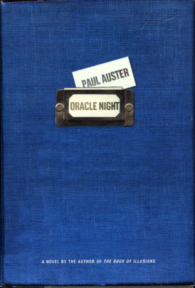 Book cover picture of Auster, Paul ORACLE NIGHT. New York: Henry Holt, (2003.)