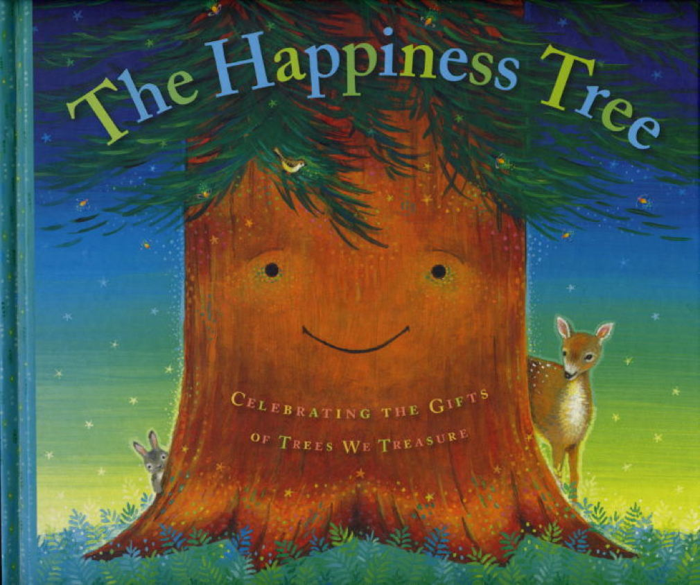 Book cover picture of Gosline, Andrea Alban (illustrated by Lisa Burnett Bossi.) THE HAPPINESS TREE: Celebrating the Gifts of Trees We Treasure. New York: Feiwel & Friends (Macmillan),  (2008.)