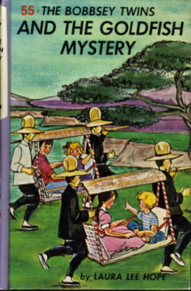 Book cover picture of Hope, Laura Lee BOBBSEY TWINS AND THE GOLDFISH MYSTERY,  #55 New York: Grosset & Dunlap, (c 1962.)