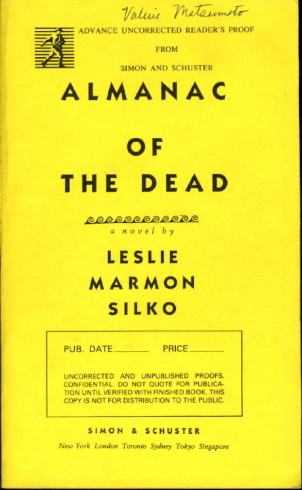 Book cover picture of Silko, Leslie Marmon. ALMANAC OF THE DEAD. New York: Simon & Schuster, (1991.)