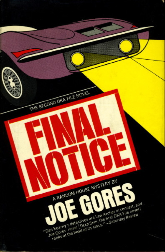 Book cover picture of Gores, Joe FINAL NOTICE. New York: Random House, (1973.)