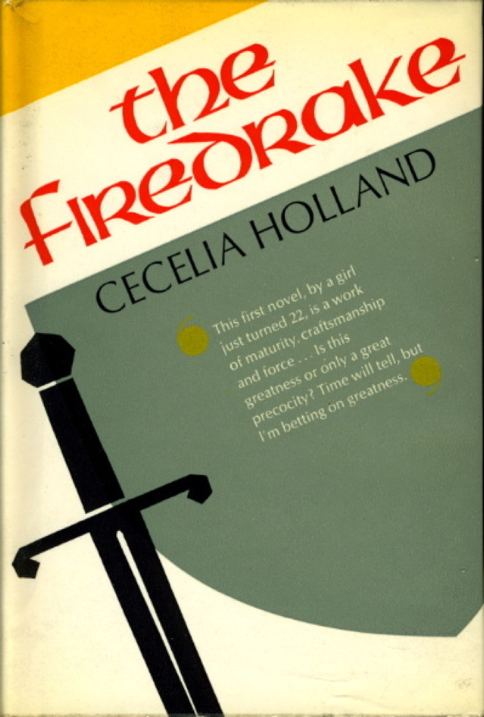 Book cover picture of Holland, Cecilia. THE FIREDRAKE. London: Hodder & Stoughton, (1966.)