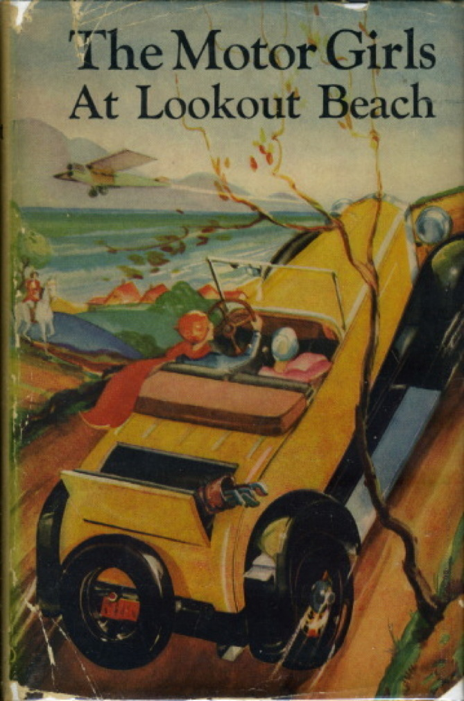 Book cover picture of Penrose, Margaret. THE MOTOR GIRLS AT LOOKOUT BEACH or In Quest of the Runaways. #3 in series.  New York: Goldsmith Publishing, (ca 1930, c 1911)