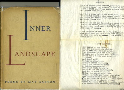 INNER LANDSCAPE: Poems. by Sarton, May