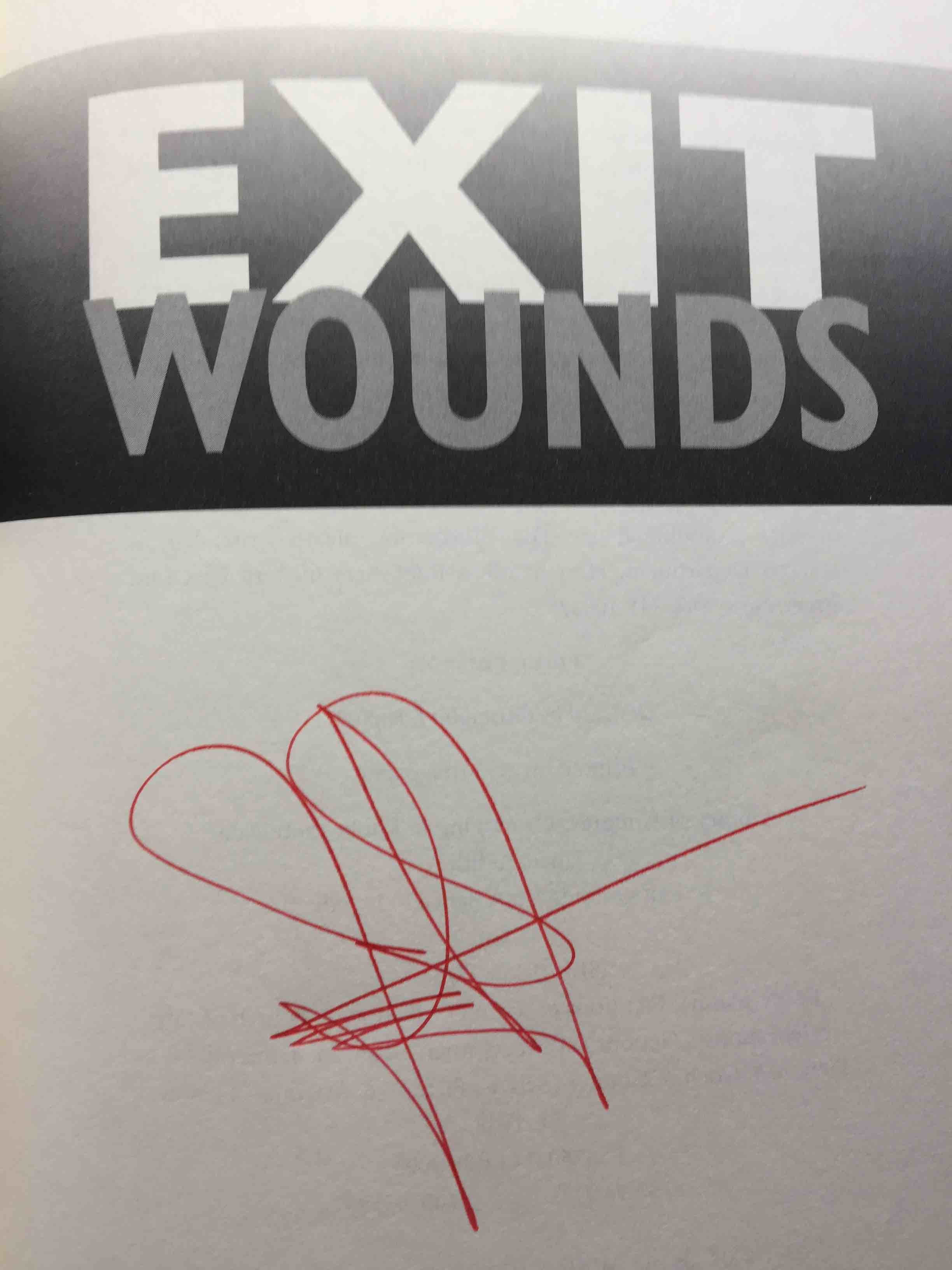 Book cover picture of Jance, J. A.  EXIT WOUNDS. New York: Morrow, (2003.)