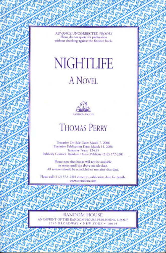 Book cover picture of Perry, Thomas. NIGHTLIFE. New York: Random House, (2006.)