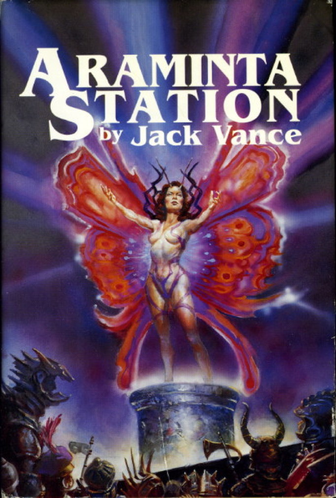 Book cover picture of Vance, Jack. ARAMINTA STATION. New York: TOR, (1988.)
