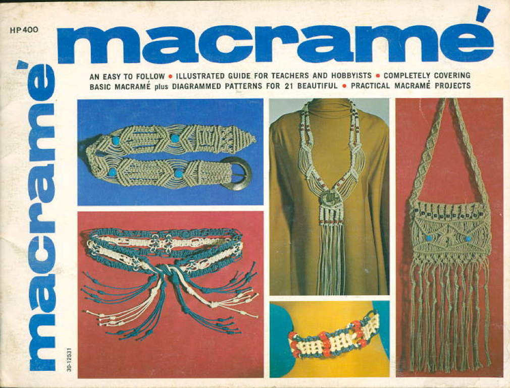 Book cover picture of Paulin, Lynn. MACRAME: An Easy to Follow Illustrated Guide for Teachers and Hobbyists. Mission Viejo, CA: James E. Gick,  (1971.)