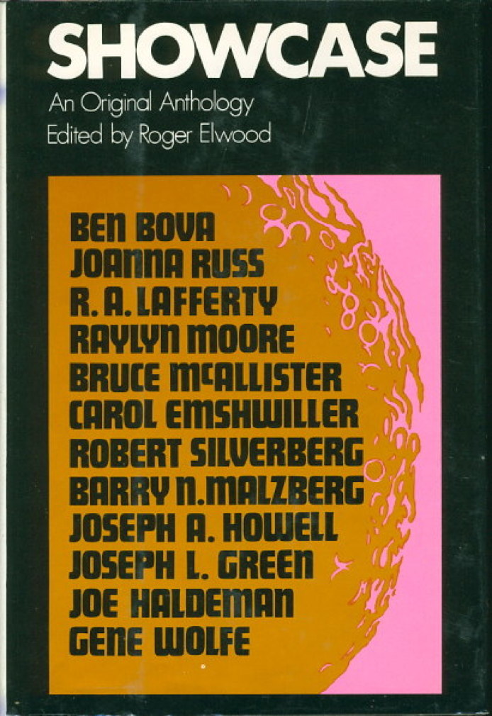 Book cover picture of [Anthology, signed] Elwood, Roger, editor. Joe Haldeman, signed. SHOWCASE. New York: Harper & Row, (1973.)