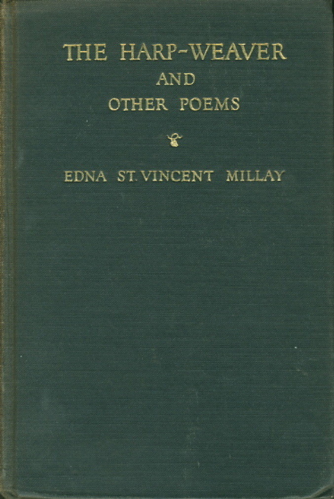 Book cover picture of Millay, Edna St. Vincent THE HARP-WEAVER and Other Poems. New York & London: Harper & Brothers, 1923.