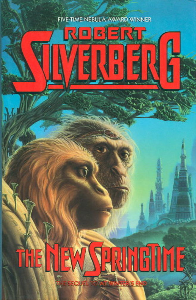 Book cover picture of Silverberg, Robert. THE NEW SPRINGTIME. New York: Warner, (1990.)