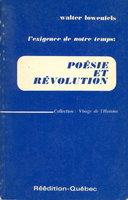 L'EXIGENCE DE NOTRE TEMPS: POESIE ET REVOLUTION. by Lowenfels, Walter (1897-1976).