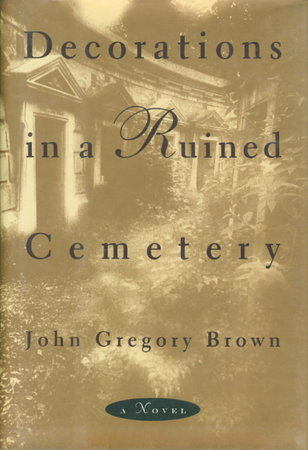DECORATIONS IN A RUINED CEMETERY. by Brown, John Gregory.