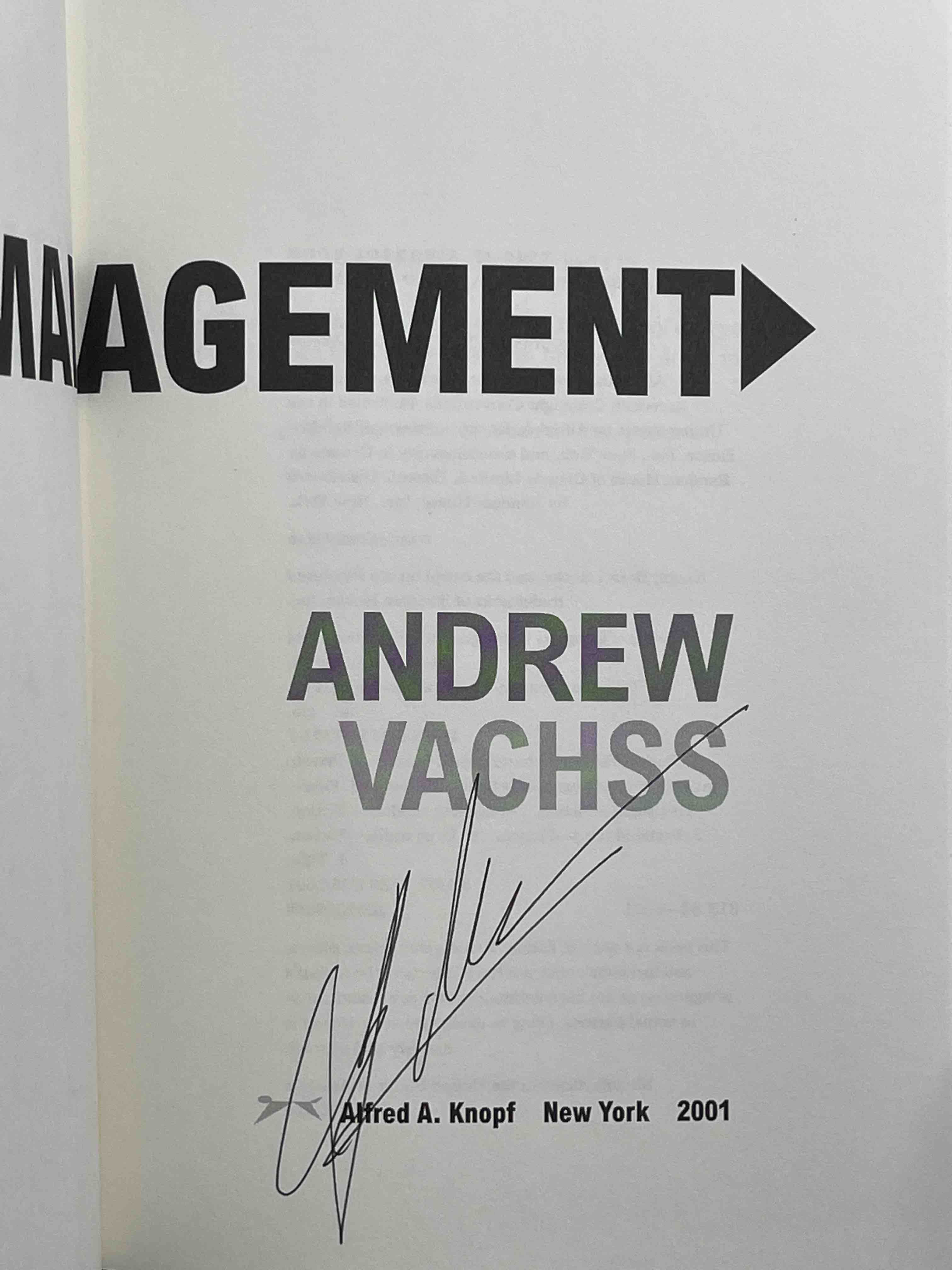 Book cover picture of Vachss, Andrew. PAIN MANAGEMENT. New York: Alfred A. Knopf, 2001.